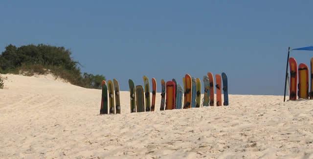 Sand-Boarding at Joaquina Dunes, Florianopolis