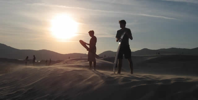 Sand-Boarding at Joaquina Dunes in Floripa