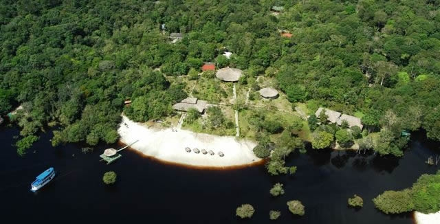 Aerial View of Amazon Ecopark Lodge