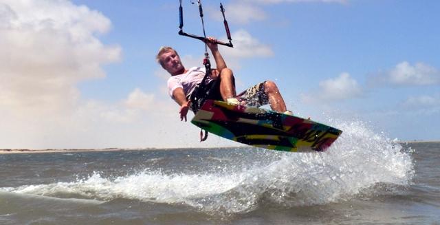 Kite-Surfer, Atins