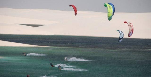 Kite Surfing in the Dunes of the Lençois Maranhenses National Park