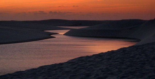 Sunset in the Lençois Maranhenses National Park