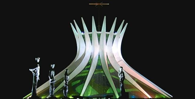 Brasilia Metropolitan Cathedral, designed by Oscar Niemeyer.