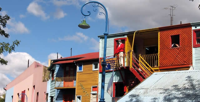 Houses at La Boca in Buenos Aires