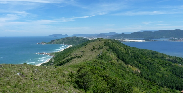 Overview of Praia Mole and Lagoa de Conceição, Florianopolis