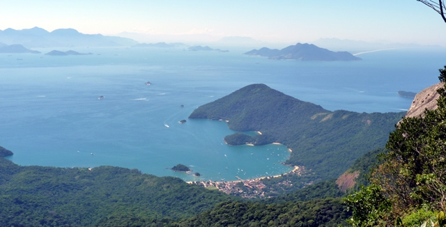 View from Parrot's Peak in Ilha Grande, Brazil