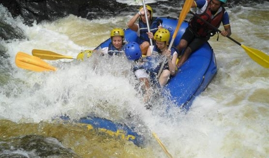 White-Water Rafting on the Rio Contas Rapids, Itacare
