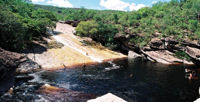 Ribeirao do Meio Falls & Natural Slide, Chapada Diamantina National Park