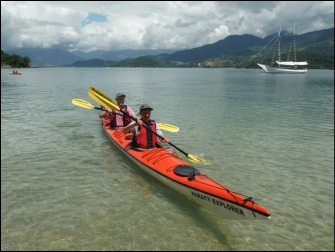 Arriving on a Paraty Beach by Kayak