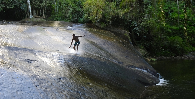 Natural water slide in Paraty