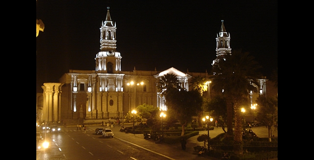 The Basilica Cathedral of Arequipa, Peru