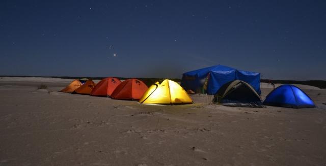 Lighthouse Trek Campsite at Night