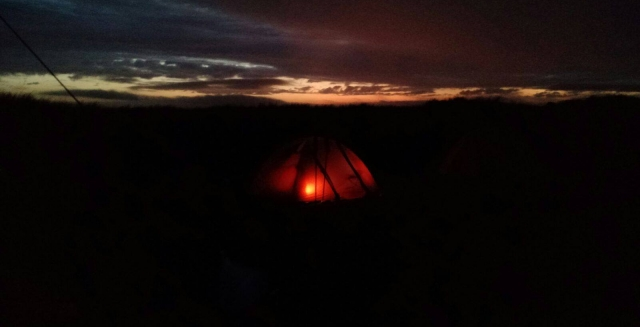 Tent at Night, Lighthouse Trek