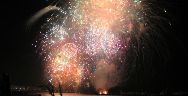 New Year's Fireworks in Copacabana Beach, Rio de Janeiro