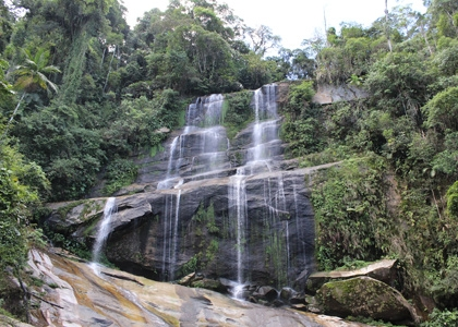 Atlantic Rainforest Waterfall, Reserva Ecologica Guapi-Açu