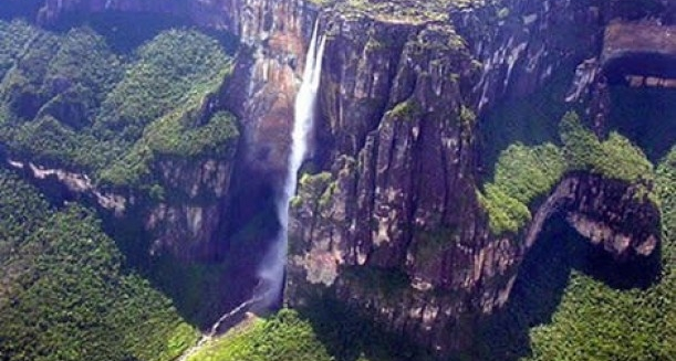 Angel Falls from above, Venezuela
