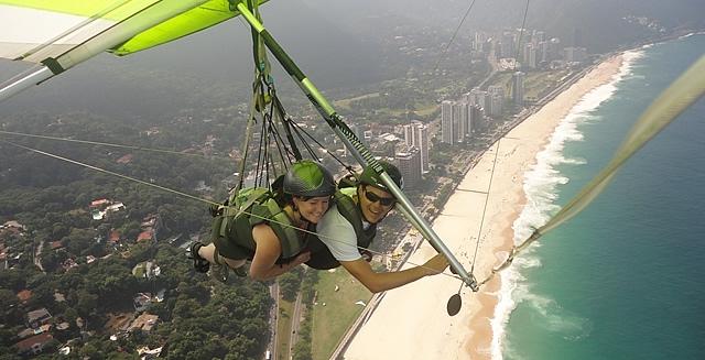 Tandem Hang-Gliding in Rio de Janeiro, Brazil