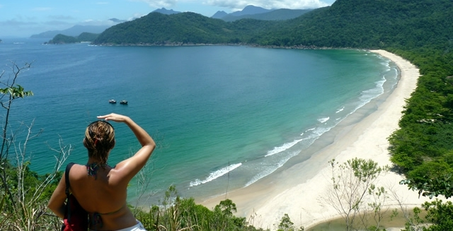 Trekking to remote beaches in Brazil