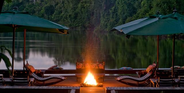Floating Deck at Cristalino Amazon Lodge