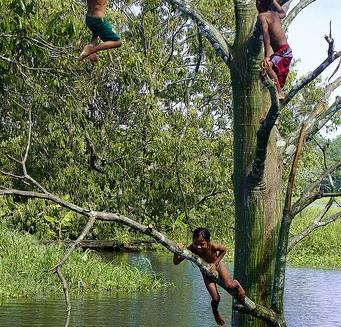 Children Playing, Mamiraua Amazon Reserve