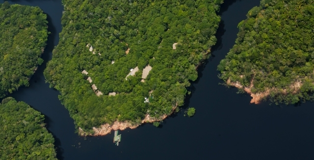 Aerial View of Anavilhanas Jungle Lodge