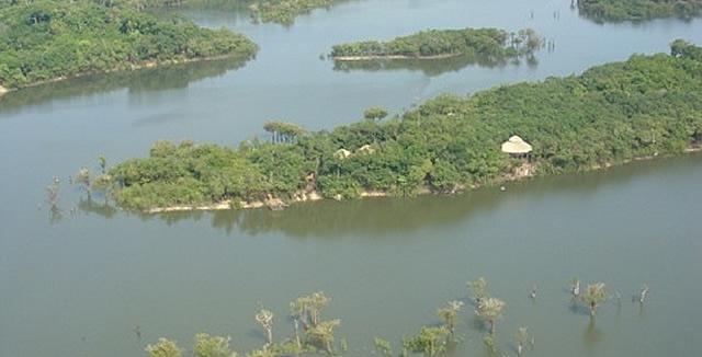 Aerial view of Juma Amazon Lodge