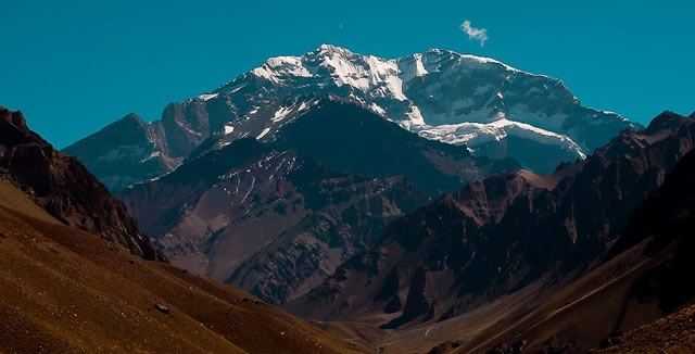 View o Aconcagua, Mendoza Argentina