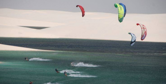 Kite Surfing in the Dunes of the Lençois Maranhenses National Park