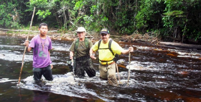 River Crossing, Mount Caburai Expedition