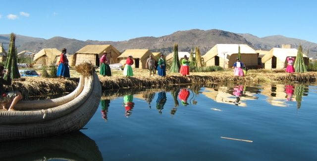 The Floating Islands of Uros, Titicaca Lake, Peru