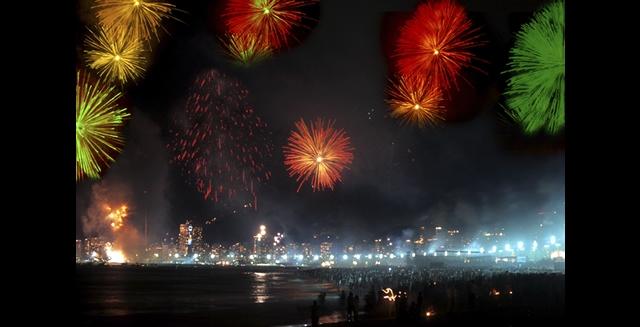 New Year Fireworks, Copacabana Beach - Rio de Janeiro