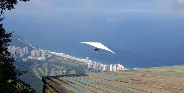 Tandem Hang-Gliding from Pedra Bonita, Rio de Janeiro