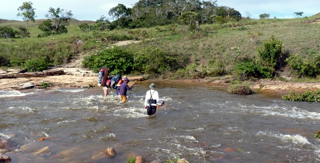 River Crossing, Mount Roraima Trek